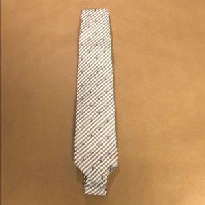 Jack spade seersucker with anchor print tie